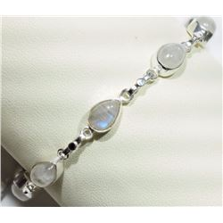 BRACELET - MOONSTONE IN STERLING SILVER SETTING - RETAIL ESTIMATE $350