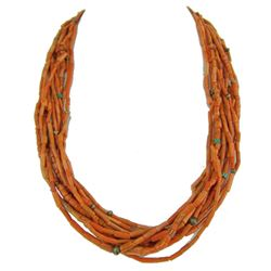 11-Strand Coral Necklace