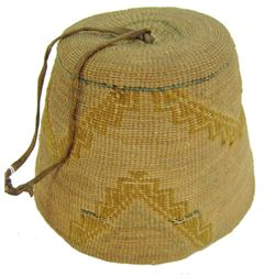 Nez Perce Child's Basket Hat