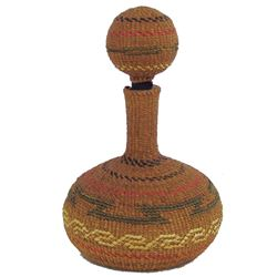 Tsimshian Basketry Bottle