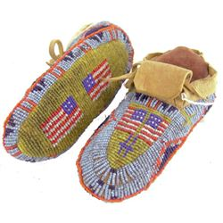 N. Plains Beaded Moccasins