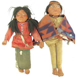 2 Antique Indian Dolls