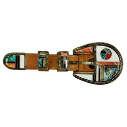 Zuni Inlay Buckle Set