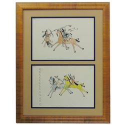 Ledger Drawings Display - Charles J. Cook