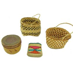 4 Miniature Baskets