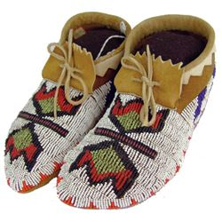 Nez Perce Beaded Moccasins - Annette Liberty