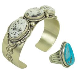Navajo Bracelet & Ring - Joe Piaso, Jr.