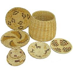 5 Papago Baskets
