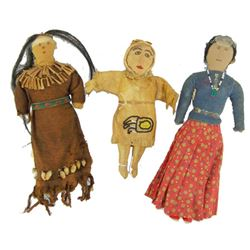 3 Antique Dolls