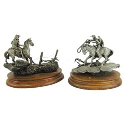 2 Chilmark Pewter Sculptures