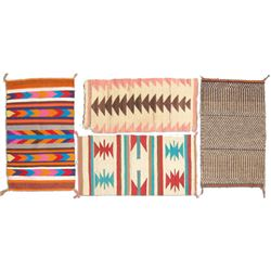 4 Small Navajo Rugs/Weavings