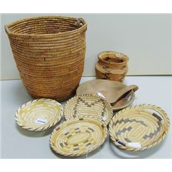 Basketry Box Lot