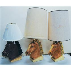 3 Horse Lamps