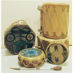 Wooden Drum Box Lot