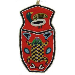 Tlingit Beaded Frog Pouch