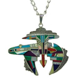Zuni Inlay Pendent Necklace