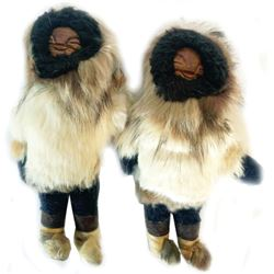 Pair of Inuit/Yupik Dolls