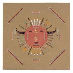 Navajo Sand Painting - Nelson Lewis
