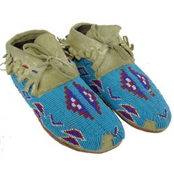 Ute Beaded Moccasins