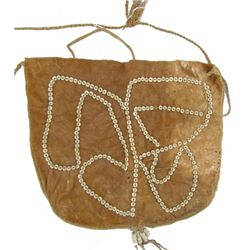 Hide Bag with Disc Bead