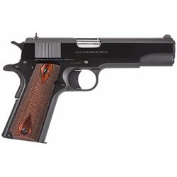 "Colt Mfg O1991 1911 1991 Government Single 45 Automatic Colt Pistol (ACP) 5"" 7+1 Rosewood Grip Blued"