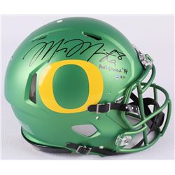 "Marcus Mariota Signed LE Oregon Full-Size Authentic Proline Speed Helmet Inscribed ""Heisman '14"" (St"