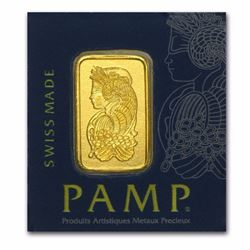 1 gram .9999 Finee Gold Bar PAMP Suisse Multigram+25 (In Assay) Certified