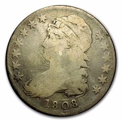 1808 Capped Bust Half Dollar F (Over 200 Years Old)