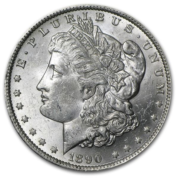 1890 Morgan Dollar BU MS-64 PCGS