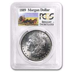 1889 Rare Stage Coach Series Morgan Silver Dollar BU PCGS