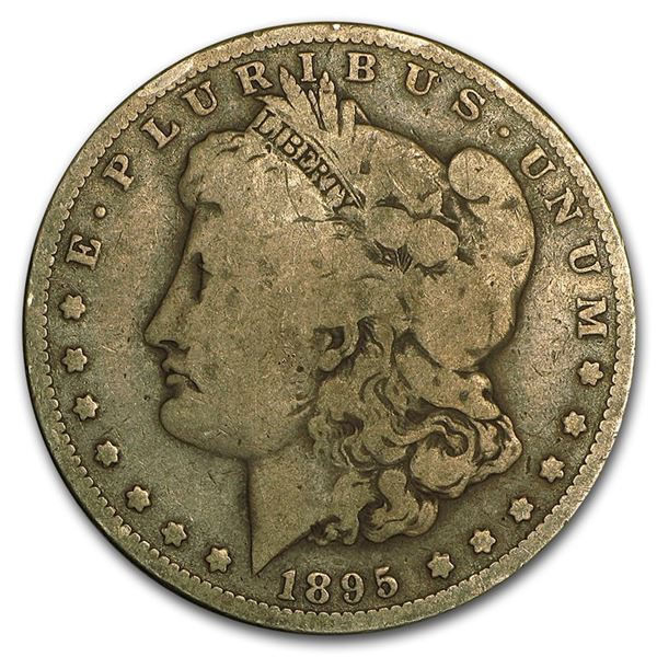1895-O Morgan Dollar F12 Scarce Date