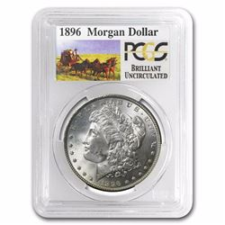1896 Rare Stage Coach Series Morgan Silver Dollar BU PCGS