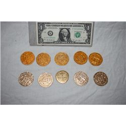 PIRATES OF THE CARIBBEAN LOT OF 10 SCREEN USED TREASURE COINS 39 A-GRADE
