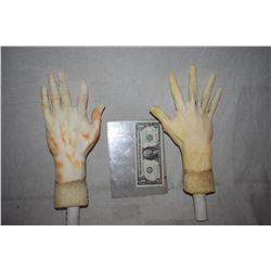ZZ-CLEARANCE POSEABLE ARMATURED MATCHED PAIR OF HANDS FOR DUMMY OR MANNEQUIN DISPLAYS 1