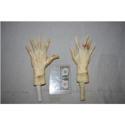 ZZ-CLEARANCE POSEABLE ARMATURED MATCHED PAIR OF HANDS FOR DUMMY OR MANNEQUIN DISPLAYS 3