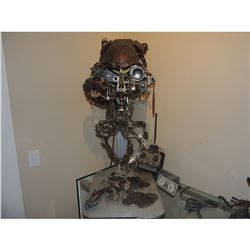VIRUS ALIEN GOLIATH HERO ANIMATRONIC HEAD LIGHTS UP & WORKS WITH REMOTE