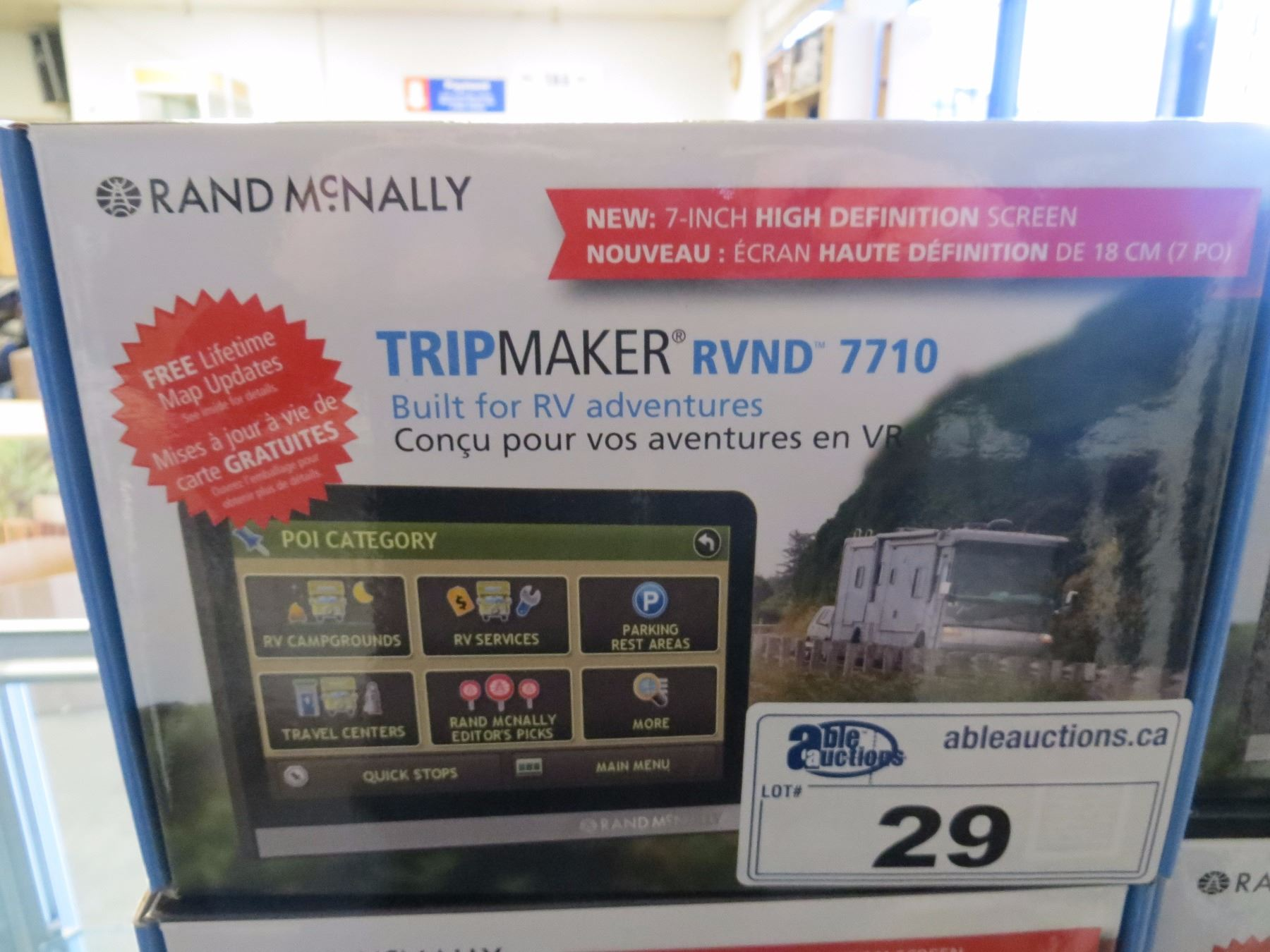 """NEW IN BOX RAND MCNALLY 7"""" TRIPMAKER RVND 7710 GPS WITH ..."""