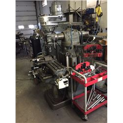 Bridgeport Milling Machine with Feed, Linear Scales and Vise