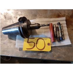 End Mill Holder 3/8'' CAT-50 with End Mill shank 3/8''