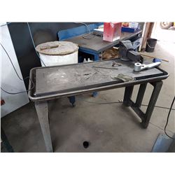 Work Table 55'' x 24'' with Vise