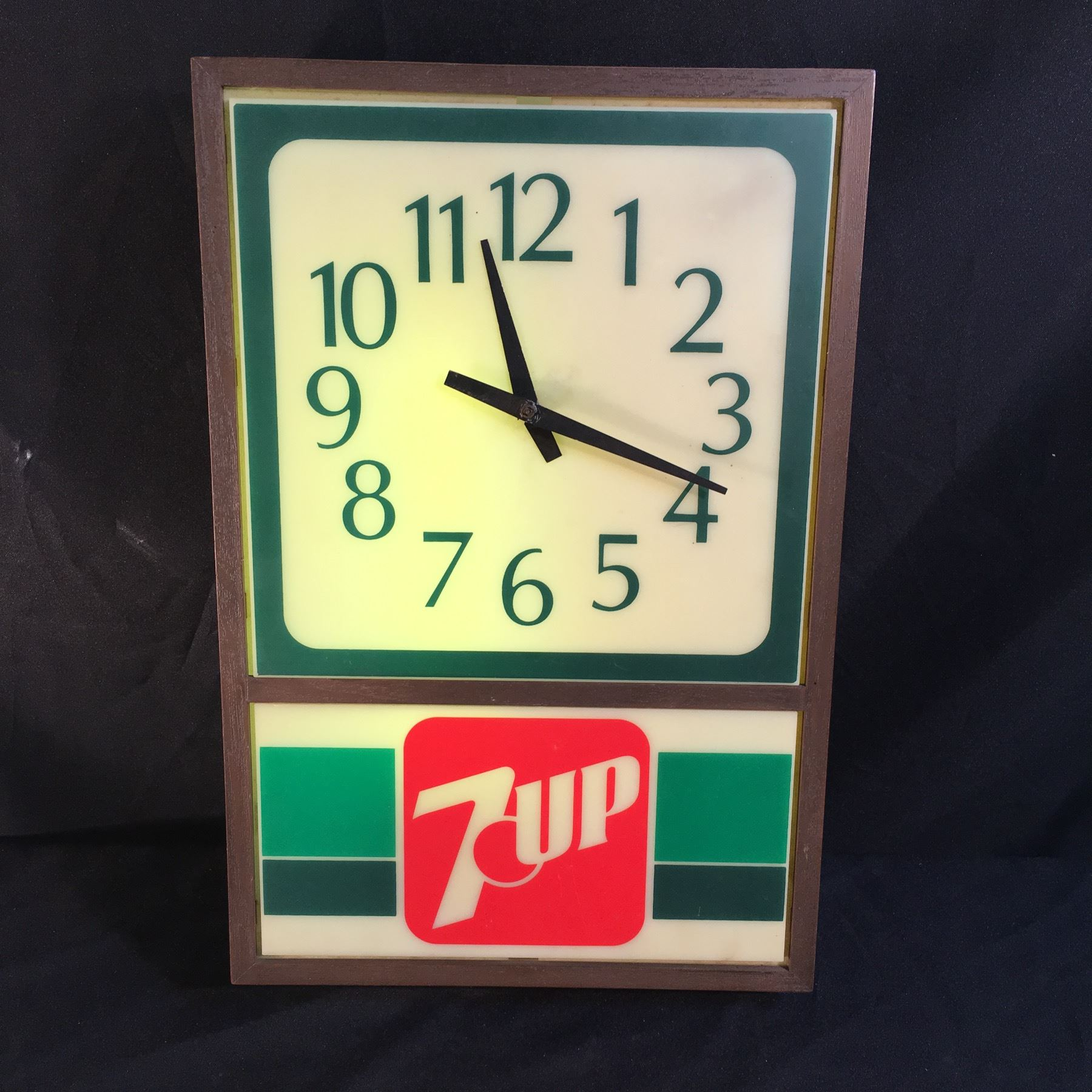 Vintage 7 up light up wall clock 19 high image 1 vintage 7 up light up wall clock 19 high aloadofball Image collections