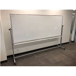 GLOBAL 8 FT MOBILE WHITEBOARD ON STAND