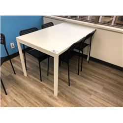 WHITE 4 FT LUNCH TABLE