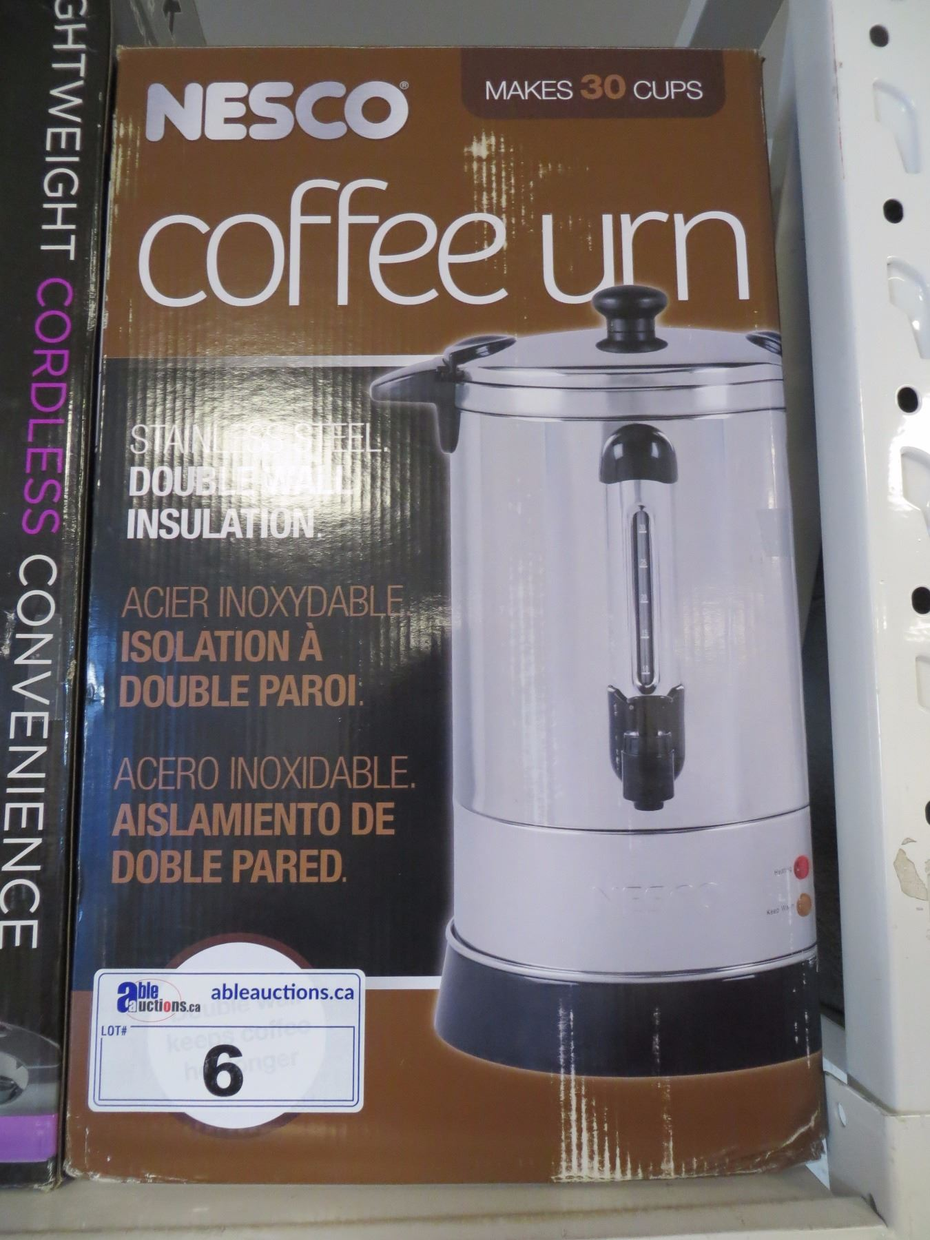 Image 1 Nesco Stainless Steel Urn 30 Cup Coffee Maker