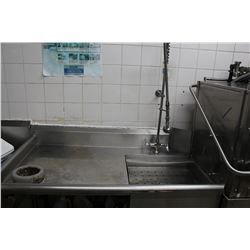 ZEP COMMERCIAL DISHWASHER WITH SINK AND TABLE