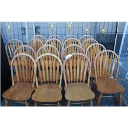 LOT OF 17 ARROW BACK CHAIRS