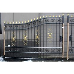 TWO PIECE 19FT WIDE IRON GATE SET