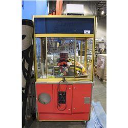 COIN OPERATED CRANE CLAW GAME WORKING ORDER