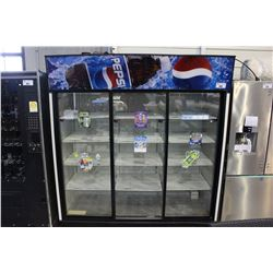THREE DOOR COMMERCIAL PEPSI COOLER