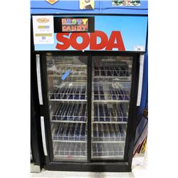 TWO DOOR COMMERCIAL POP COOLER